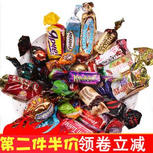 锦食阁】俄罗斯进口正品紫皮混合装巧克力喜糖果年货零食品大礼包