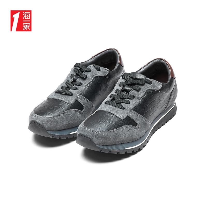 Một thương hiệu Hải bán đầu tròn ren màu phẳng gót thấp giày thể thao trẻ trung - Giày thấp