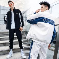 卫衣男春季新款男士两件套潮流连帽男士休闲运动套装 DS367TP95