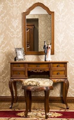出口美式家具 欧式实木梳妆台 现代简约 田园 化