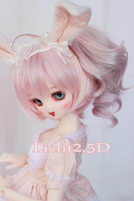 taobao agent 【licht2.5 dimension】High temperature silk bjd wig-1/3-1/4-1/6【382-Vanilla】