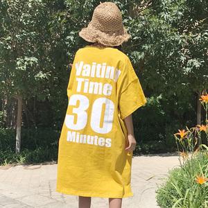 992#(实拍)实价 已质检 三标全~宽松显瘦中长款短袖T恤女夏