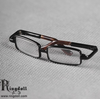 taobao agent Uncle/1/3 BJD/SD doll glasses RD official baby glasses black frame transparent lens-Rot56