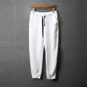 Mùa hè mới chín quần nam quần âu XL loose feet quần harem quần trắng triều nam 6809