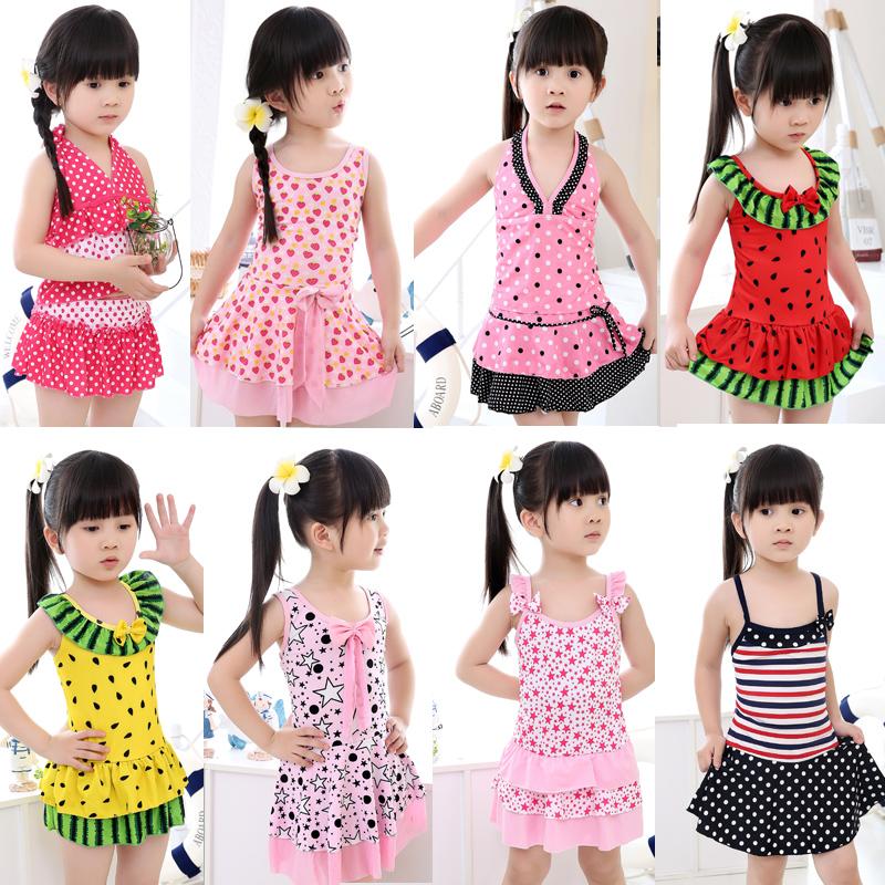 Đích thực trẻ em của đồ bơi Hàn Quốc váy cô gái chia trẻ em của đồ bơi cô gái lớn trẻ em một mảnh bơi