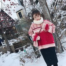 3221冬季新款韩版学生百搭纯色暗扣毛绒加厚保暖围巾毛茸围脖女潮