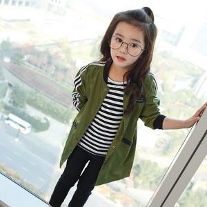 宅时尚2017春装新款外套 韩版修身潮款棒球服 中大女童装