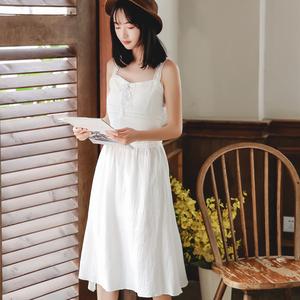 6187#特价30元 可换同款不退【现货实拍】纯色吊带连衣裙