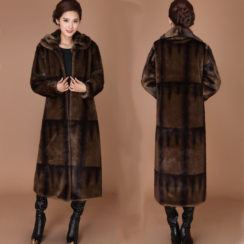 Haining lông nữ gọn gàng dài ve áo da lộn áo trung niên mẹ nạp với nước 貂 lông cỏ chống mùa giải phóng mặt bằng