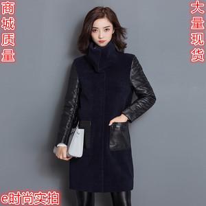 冬季新款皮毛一体皮草绵羊皮皮衣羊毛羊剪绒真皮羽绒服外套