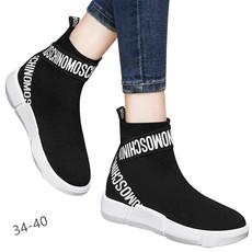 专柜正品 平底高帮 女鞋  套脚 休闲鞋 DS12-6432P125