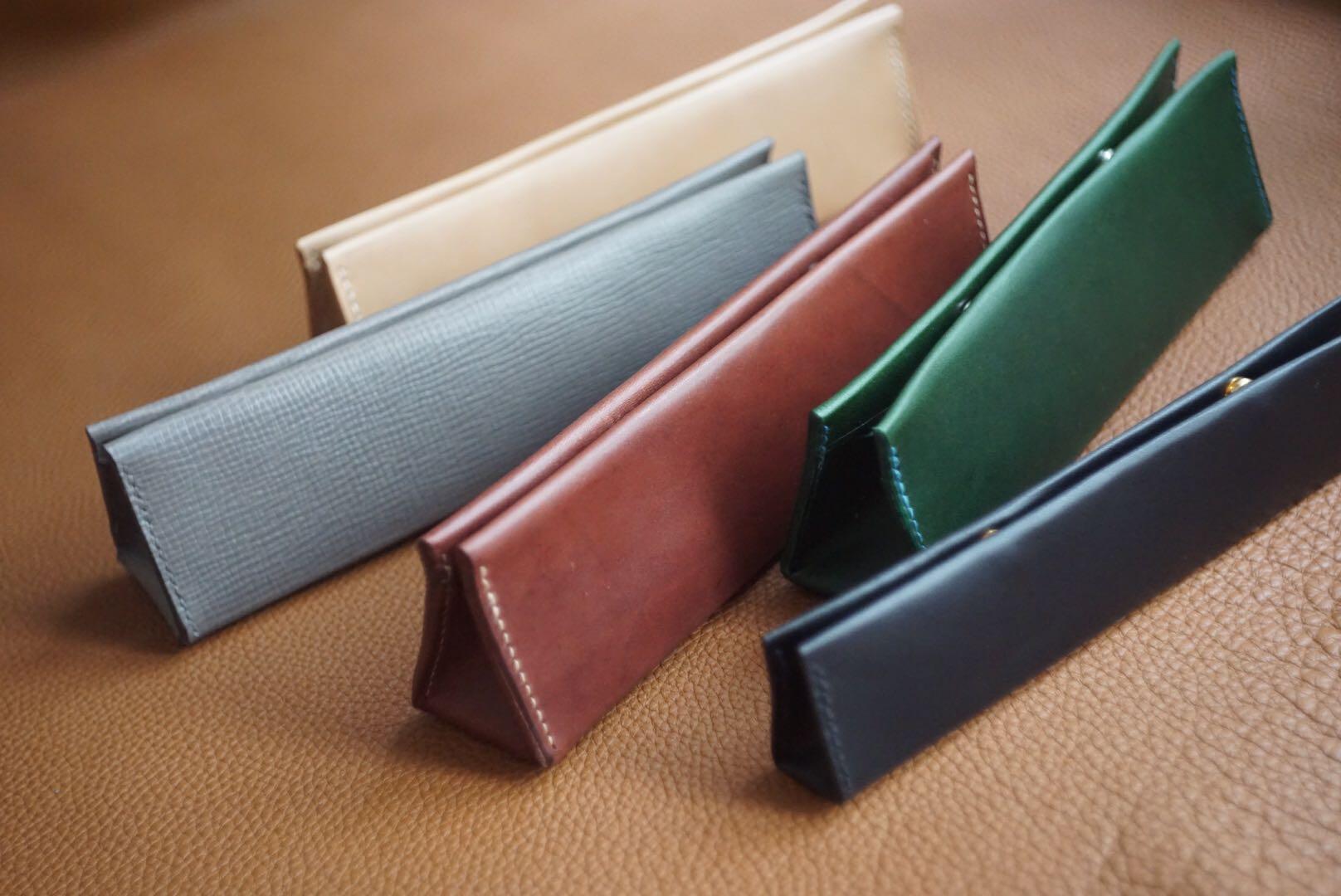 secret.D 手缝皮革 简易笔袋 收纳包 20X5.5X4cm