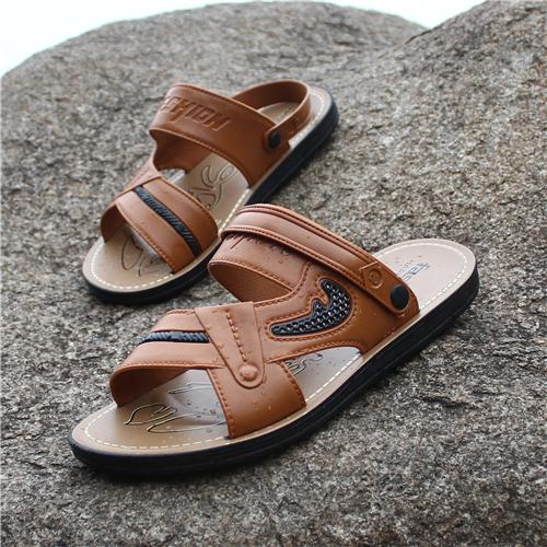 Mùa hè Hàn Quốc phiên bản của người đàn ông mới của dép hoang dã cá tính thời trang từ giày dép giản dị bãi biển dép triều mặc