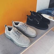 冬款韩版男士加绒加厚马丁靴工装皮鞋棉鞋靴子男鞋子C157