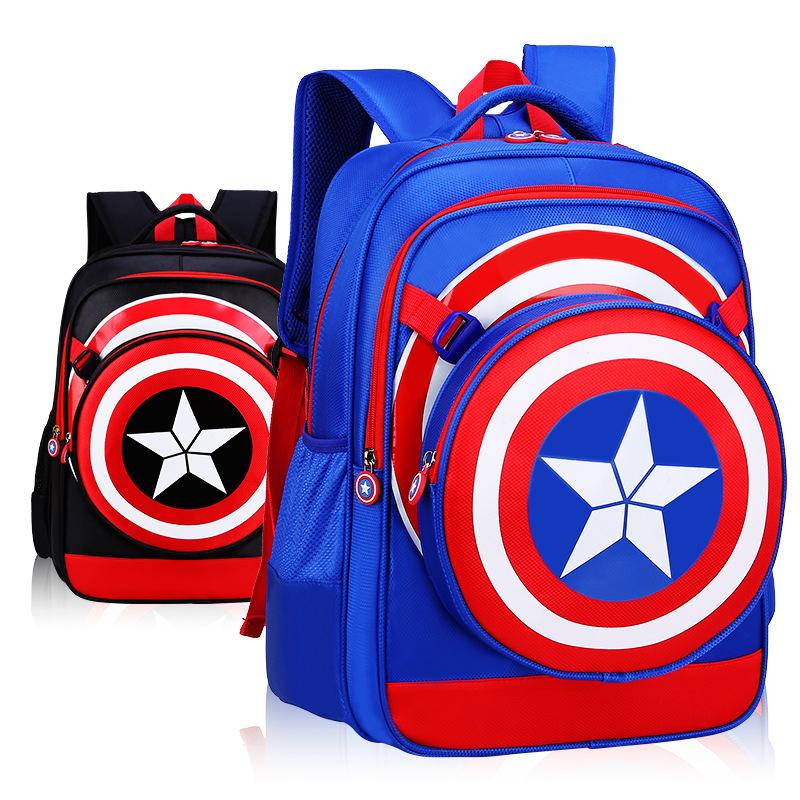 韩版男童书包小学生4-6年级一三四五六3-5男生儿童防水双肩包男孩