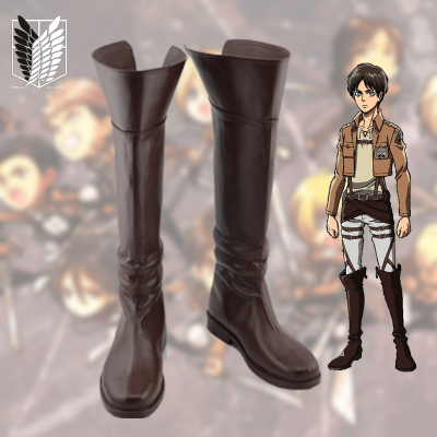 taobao agent Attack on Titan Alan Yeager cosplay shoes COS shoes custom-made with pictures No. A19