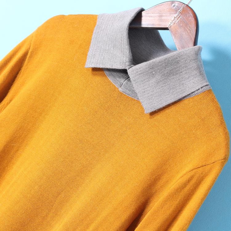 甩 Nam Jie loạt mùa xuân mới sản phẩm ve áo màu phù hợp với căng áo thun áo len 2234