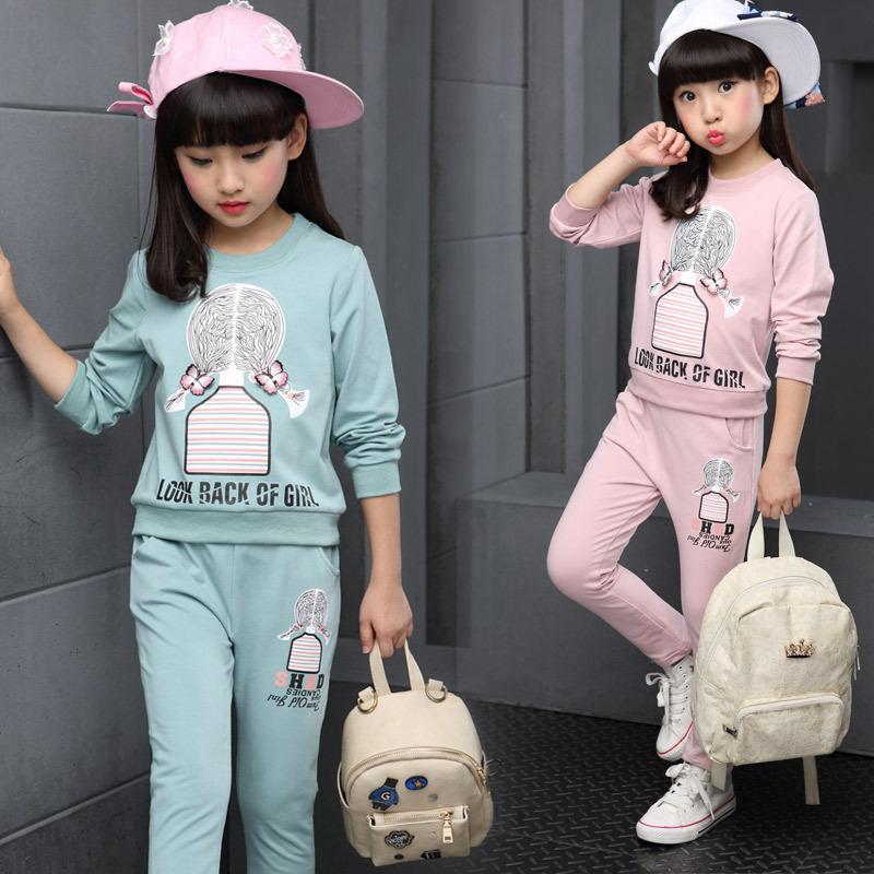 1158女童套装秋装2016童装儿童卫衣长袖宝宝女孩运动两件套春秋款