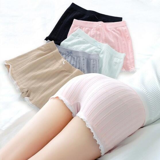 Mùa hè phụ nữ bán buôn Hàn Quốc phiên bản của bảo hiểm cơ sở mới mỏng boxer đồ lót ren chống ánh sáng quần an toàn thủy triều