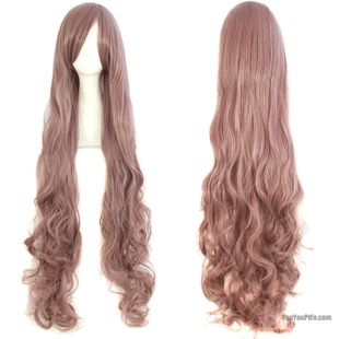 Long hair wig female big wave 100cm long in the face of air volume long hair repair bangs wig cosplay
