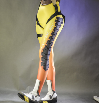 taobao agent 【Spot】Overwatch Tracer cosplay pants