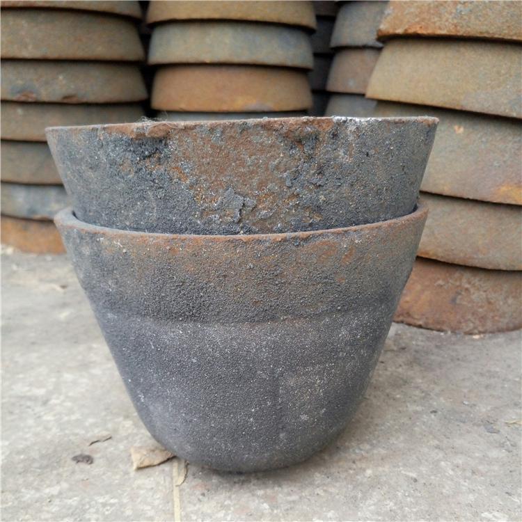 化铝生铁坩锅熔铝倒模具坩埚