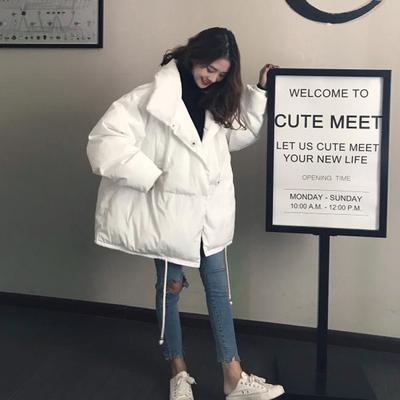 27棉服女冬装2018新款韩版宽松bf棉衣外套中长款加厚ins面包服学天猫超市优惠券领取