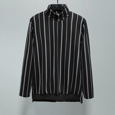 Gốc triều thương hiệu nam Châu Âu và Mỹ đường phố Người Anh thường hit màu sọc cao cổ áo ve áo áo len tối đáy áo Áo len