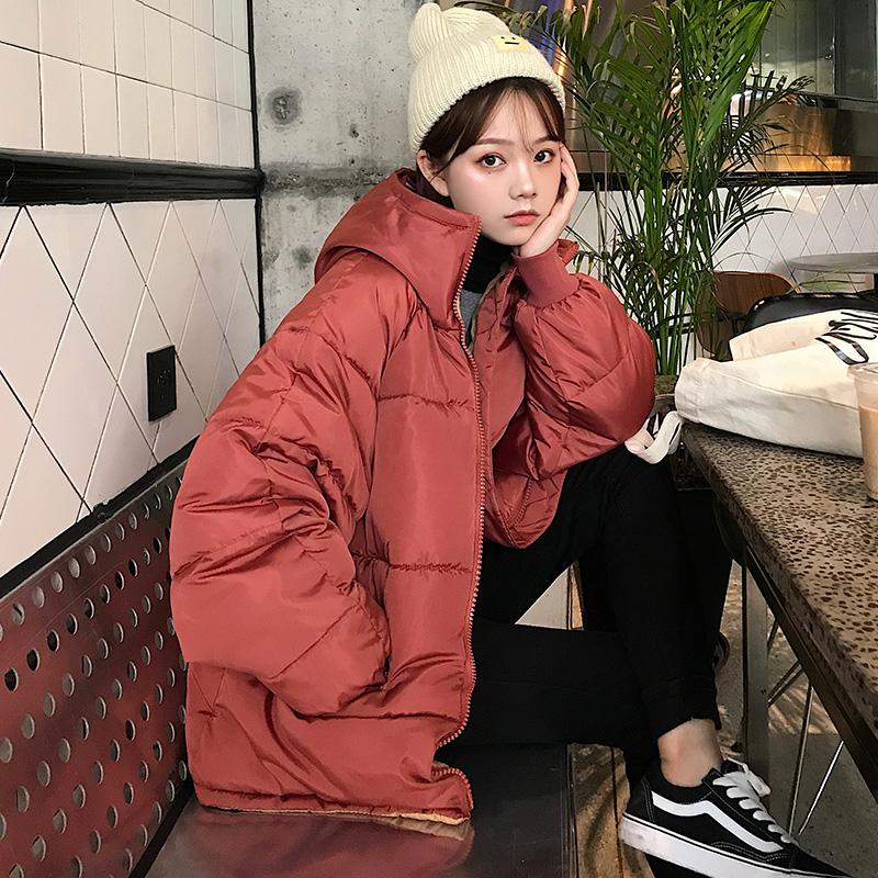 棉袄2019年棉服女韩版宽松bf原宿风短款学生冬季棉衣外套女面包服