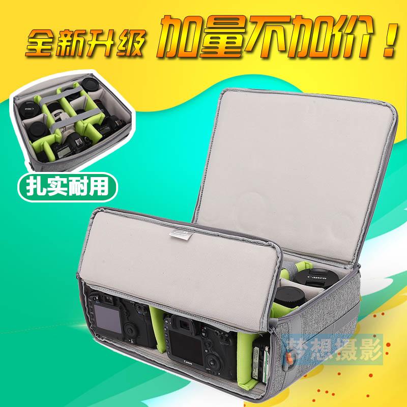 Máy ảnh lót túi đa chức năng SLR túi máy ảnh đôi kho cửa công suất lớn du lịch xe đẩy hành lý phụ kiện kỹ thuật số gói