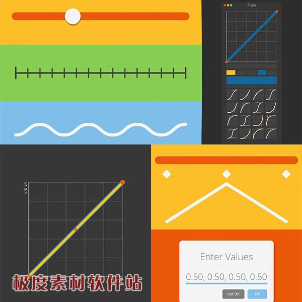AE脚本 MG动画关键帧缓入缓出曲线调节插件Flow V1.4.1+视频教程