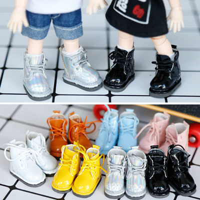 taobao agent New in the new year! ob11 baby shoes DDF body9 BJD GSC clay bright leather boots shoes 2 pairs