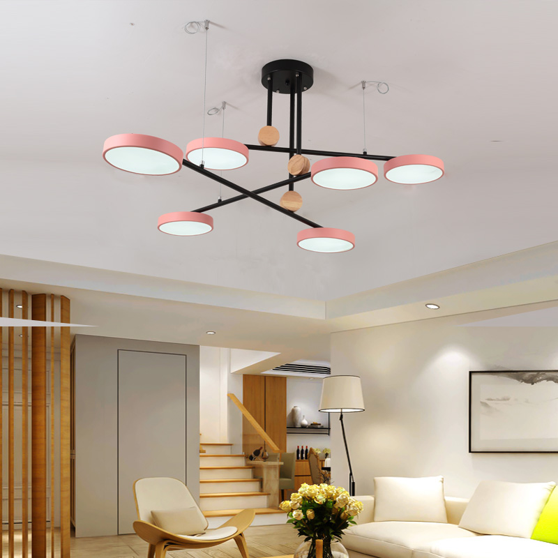 北欧灯具马卡龙客厅吊灯创意个性led轻奢家用支架设计师家用吊灯