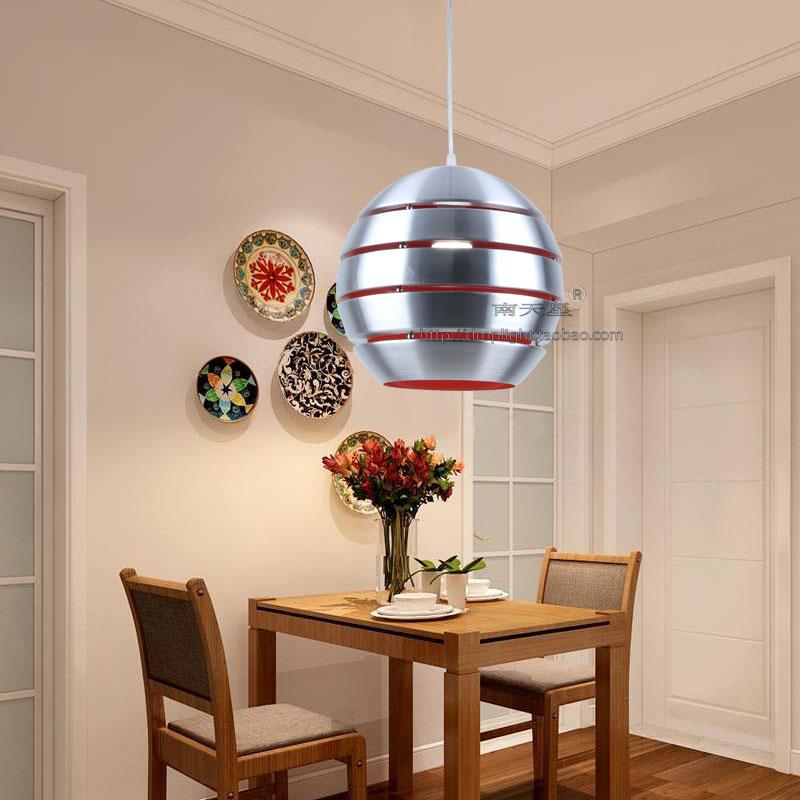 北欧单个球型吊灯灯罩外壳罩理发店球型led灯个性寿司店吊灯