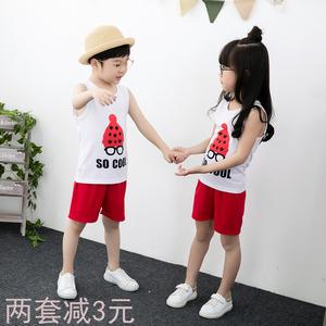 Trẻ em mùa hè vest quần short đặt 2-5 chàng trai cotton trẻ em quần áo cô gái quần áo 9 tuổi nữ bé mỏng mùa hè ăn mặc