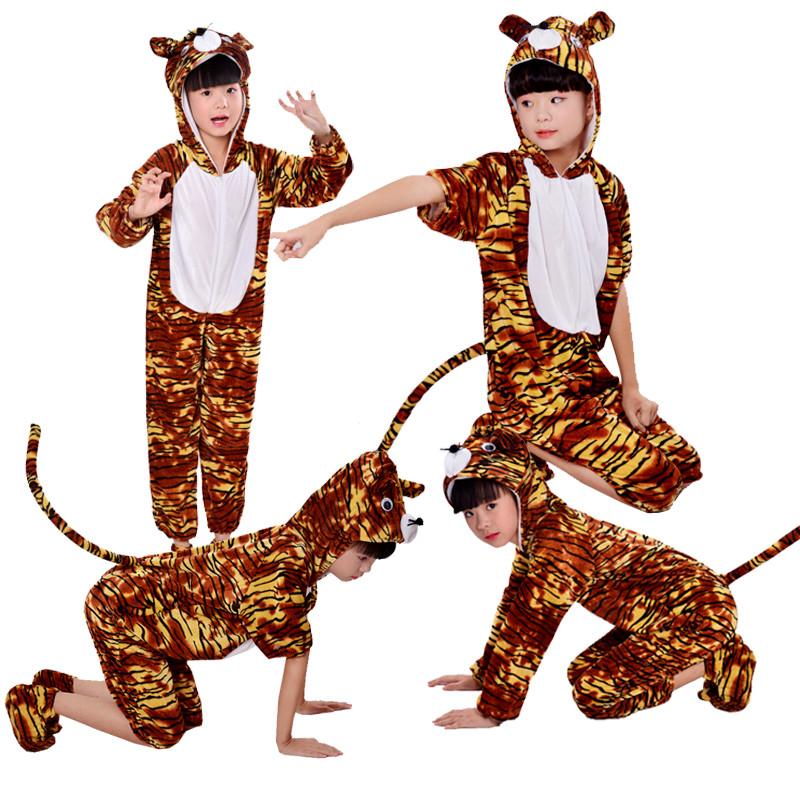 New Tiger Trang Phục Trẻ Em Động Vật Phim Hoạt Hình Trang Phục Biểu Diễn Rừng Vua Drama Trang Phục Khiêu Vũ