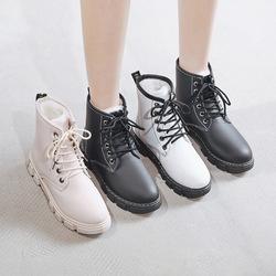 2019冬季新款加绒马丁靴女韩版学生短靴保暖棉鞋百搭ins加厚靴子淘宝优惠券
