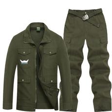 纯棉水洗斜纹作训服套装男耐磨劳保工作服户外训练外军服装