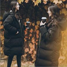 东大门2018新款羽绒棉服女装韩国匹诺曹宽松过膝长款面包服棉衣