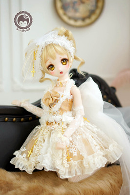 taobao agent 【Meow House】Glorious Rose Gothic retro temperament dress small dress 4 points BJD SD MDD 1/4 baby clothes