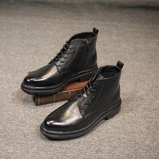 马丁靴男橡胶超厚大底高帮鞋男潮流发型师鞋子男时尚休闲鞋男