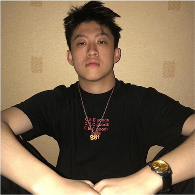 taobao agent Richbrian same paragraph 88 rising necklace trendy male jumping di chain pendant hip hop trendy titanium steel pendant necklace female