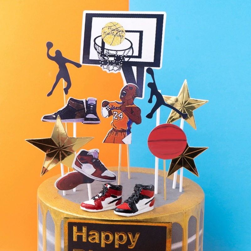 科比篮球男孩男神烘焙生日派对篮球主题插件
