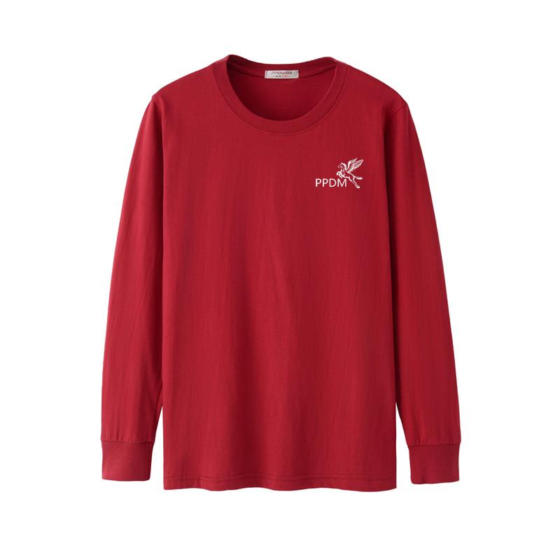 Đặc biệt hàng ngày chất béo dài tay T-Shirt trung niên nam cotton vòng cổ cộng với phân bón XL lỏng thể thao mùa thu quần áo bên ngoài