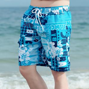 Mùa hè bãi biển quần của nam giới thường phần mỏng quần short hoa nam nhanh khô bơi thân bên bờ biển kỳ nghỉ thời trang lớn ngã ba quần