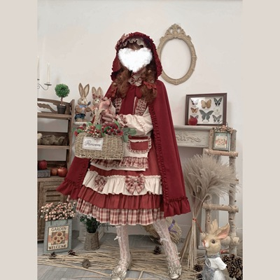 taobao agent Original authentic berry girl OP Lolita long-sleeved autumn and winter daily retro lolita dress princess dress