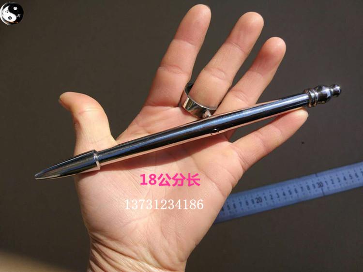 不锈钢判官笔实心笔峨眉刺点穴笔表演笔车载防身笔酷棍八卦掌套路