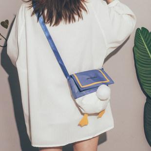 Утиная задница мешки 2021 новый прилив японский жизнеспособность девушка холст сумка милый смешной студент сумку