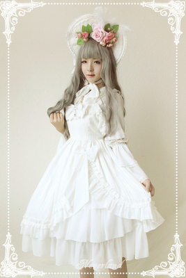 taobao agent Soufflesong exclusive design【Mermaid tears】Small high waist dress jsk no spot appointment