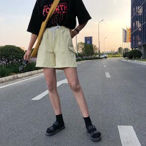 实拍实价2771#bf风原宿阔腿裤学生韩版百搭休闲中裤宽松五分裤